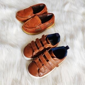 Two pairs of Old Navy & Cherokee kids shoes size 7